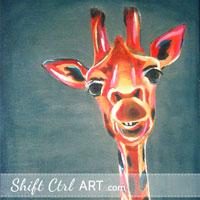 Giraffe - acrylic