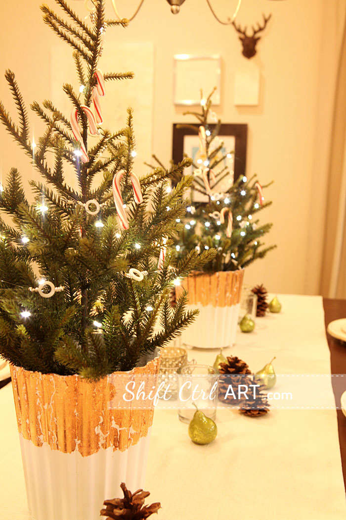 fillers christmas table pears that gilded found   couple I beaded a at runner vase of Target are The