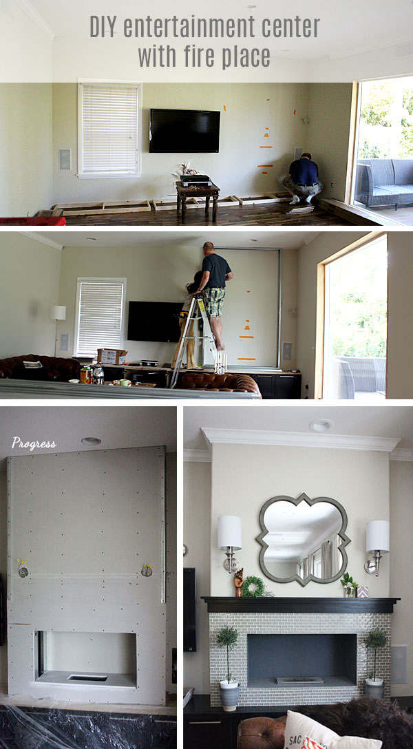 #DIY #entertainment center #fireplace
