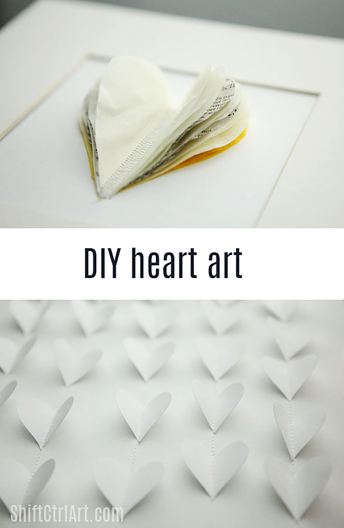 #DIY heart art - inspired by Emily Henderson