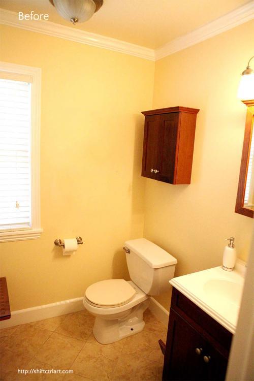 Bathroom Sink Turning Yellow powder room turned full bath part iii - the reveal