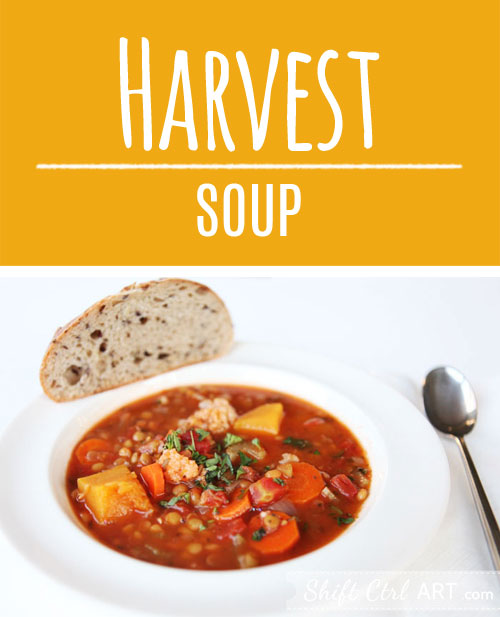 Make this delicious #harvest #soup - a great whole foods soup