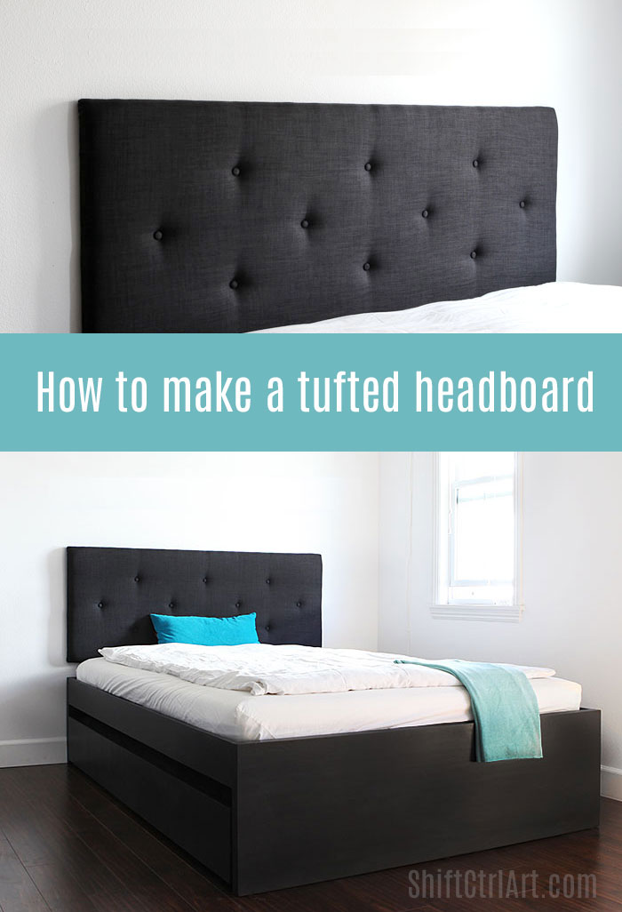 How to make a tufted headboard for Makeshift headboard