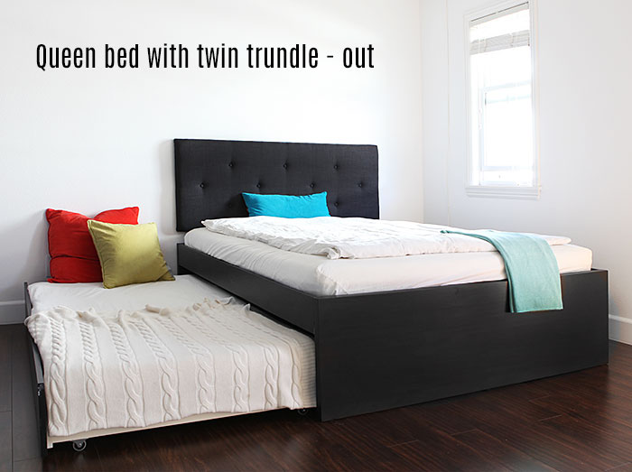 How to build a queen bed with twin trundle ikea hack 2 twin beds make a queen