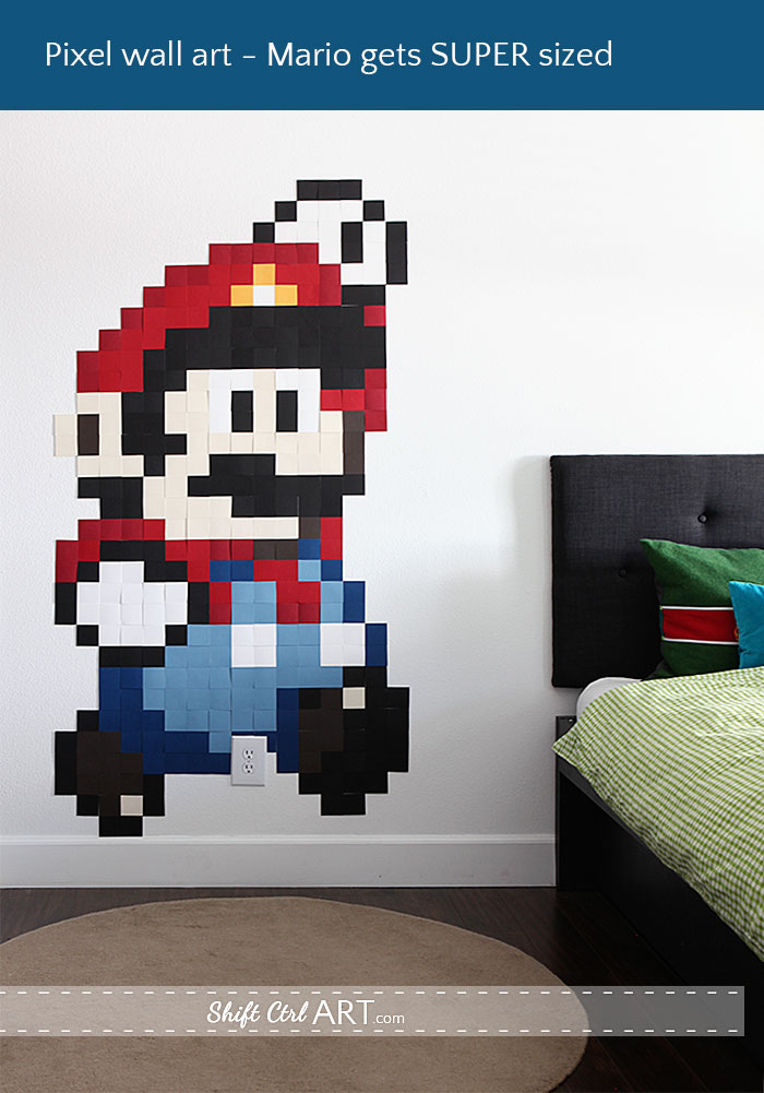 pixel wall art