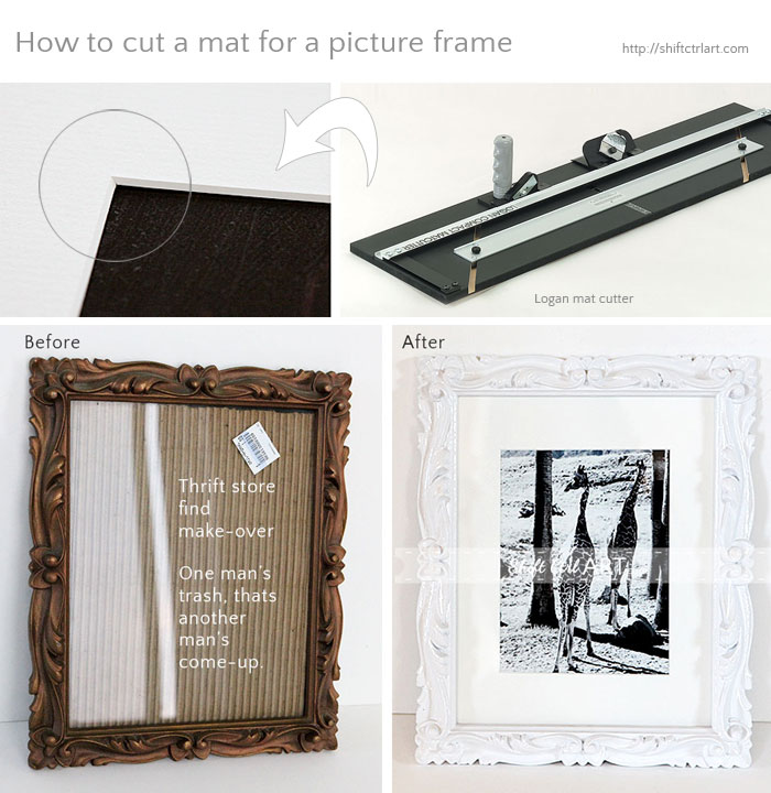 How to cut a mat for a photo frame