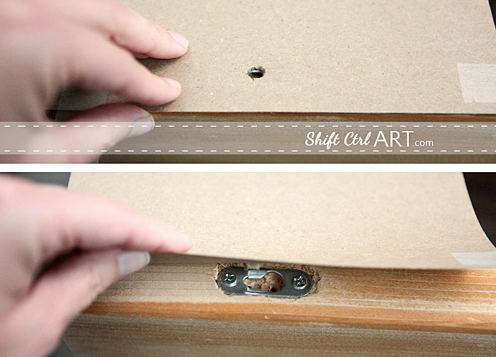 How to hang a flush mount shelf or cubby