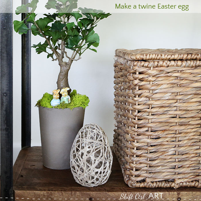 Make a twine easter egg a