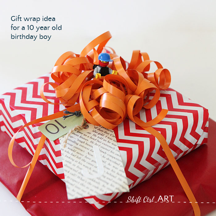 Birthday gift wrap idea for tween boy