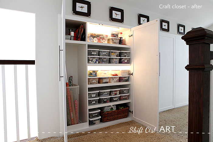 Upstairs hall cabinets wall storage reveal 11