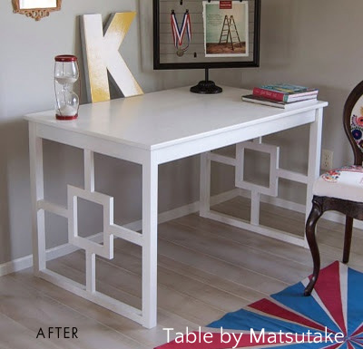 Bs blue wall tween make over reveal diy desk and shelves IKEA hack 1
