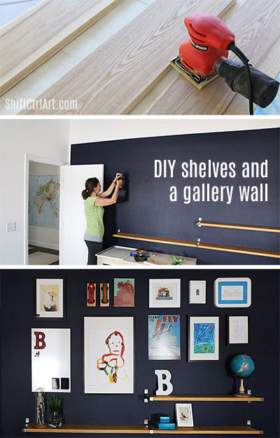 #DIY #shelves and a #gallery #wall