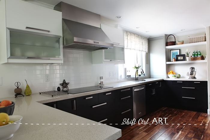 lovely Ikea Kitchen Remodel Before And After #1: Kitchen remodel after IKEA Caesar stone Acacia hardwood.DIY