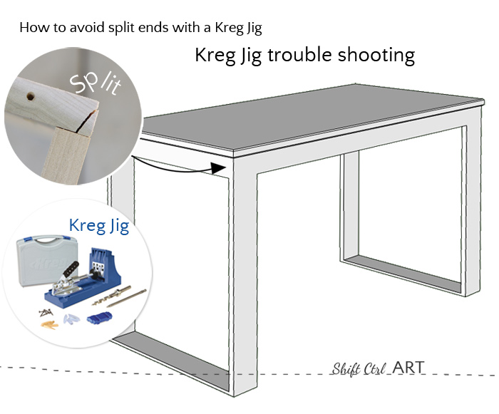 Kreg Jig trouble shooting avoid split ends