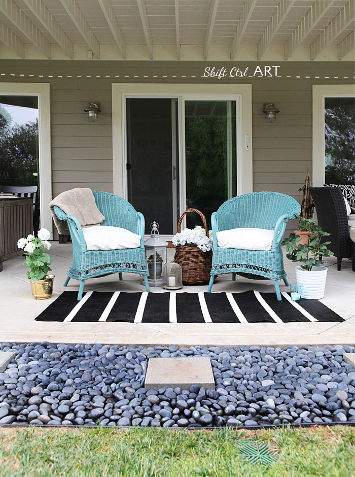 Spray Paint True Coat II wicker chair garden furniture 1