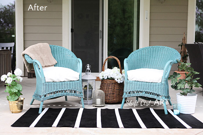 Spray Paint True Coat II wicker chair garden furniture 15