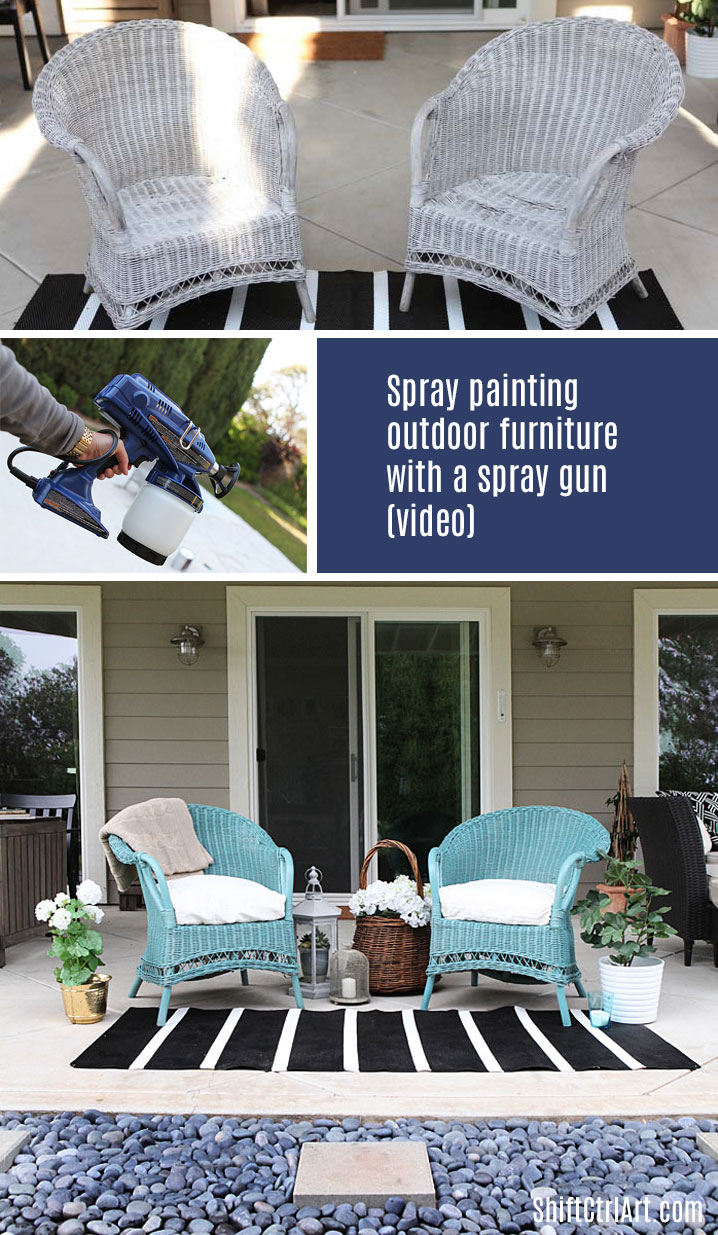 #Spray #Paint with a True Coat II #wicker #garden #outdoor #furniture