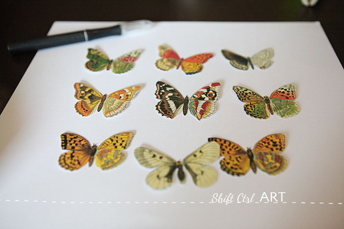 Vegan butterfly framed art paper craft 1