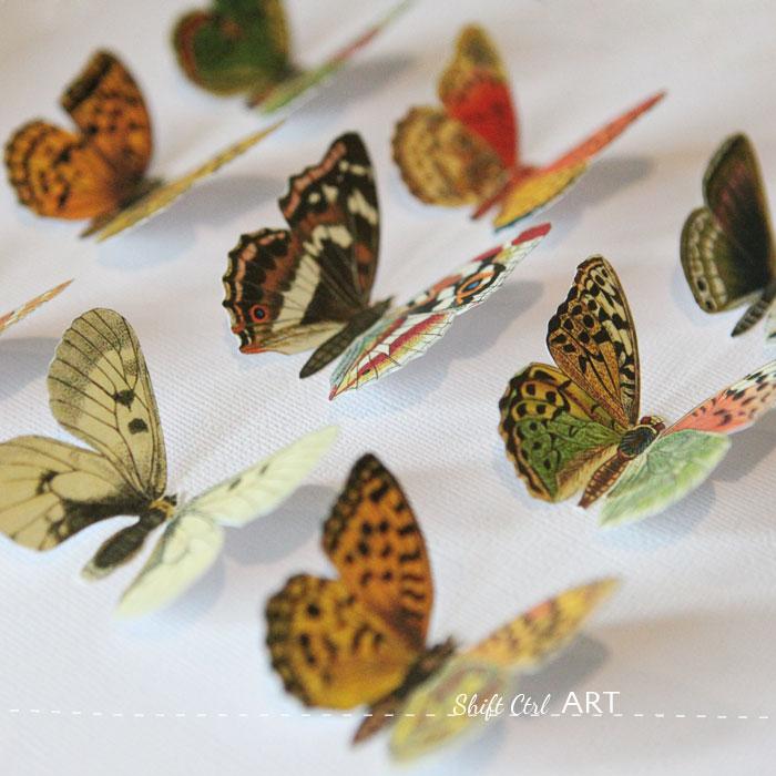 Vegan butterfly framed art - Mother\'s day DIY idea - including printable