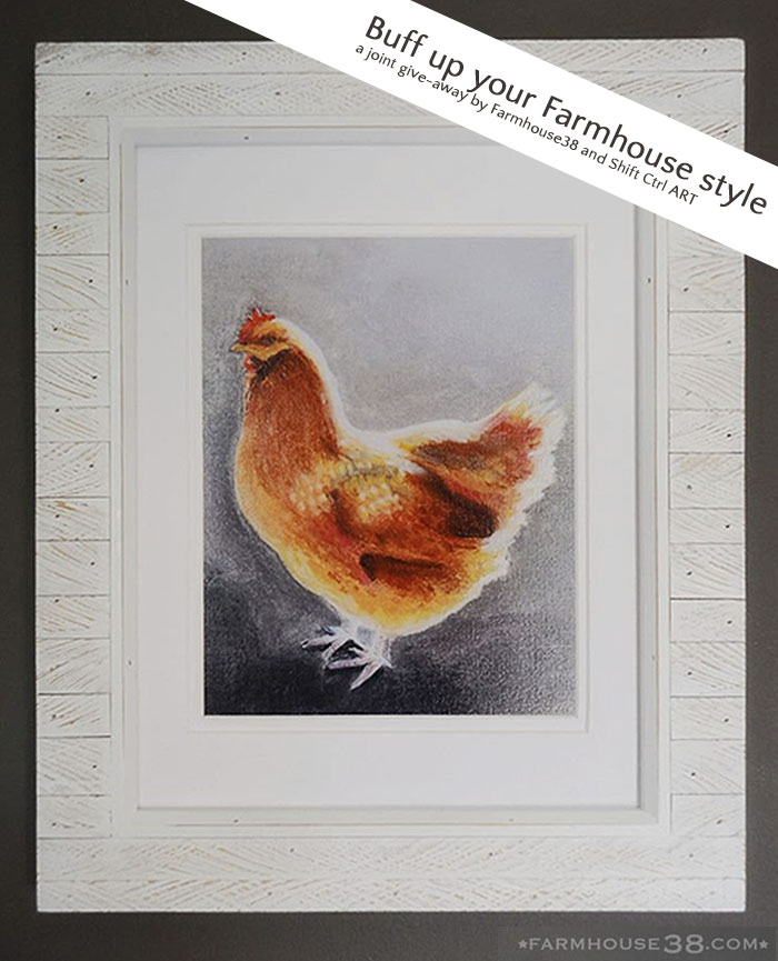 Chicken print giveaway with banner