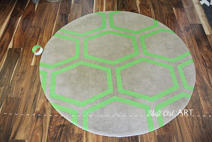 Frog tape challenge Hall entry Besta Ringum seating bench 1