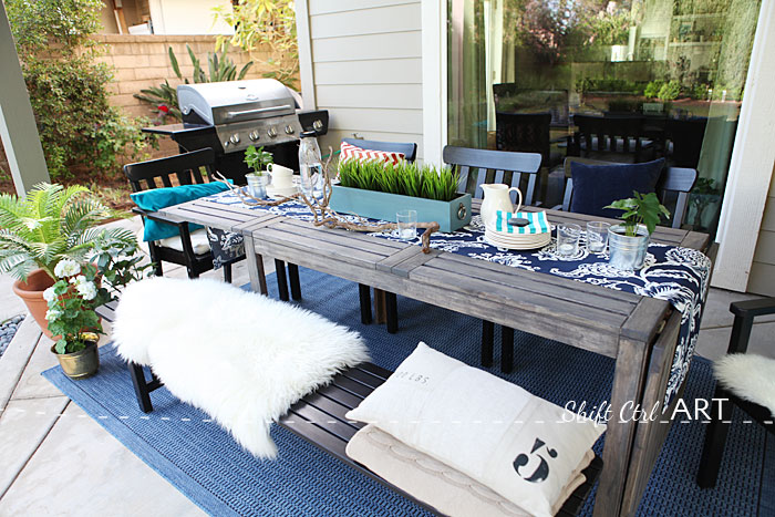 Patio outdoor dining area reveal 1