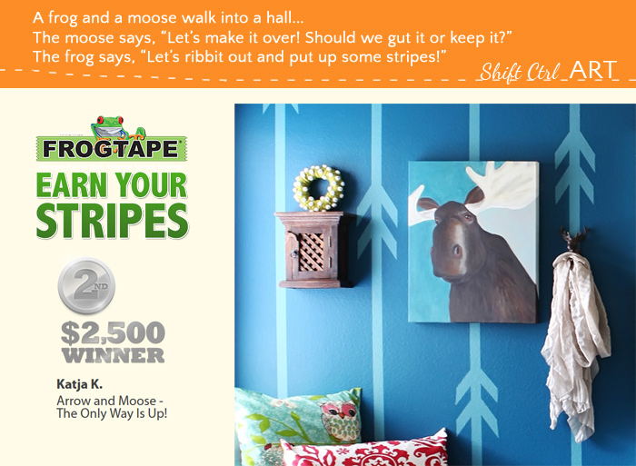 Frogtape earn your stripes arrow moose hall 2nd prize winner 2013