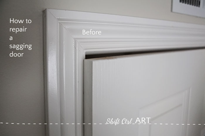How To Fix A Sagging Door See How Easy It Is