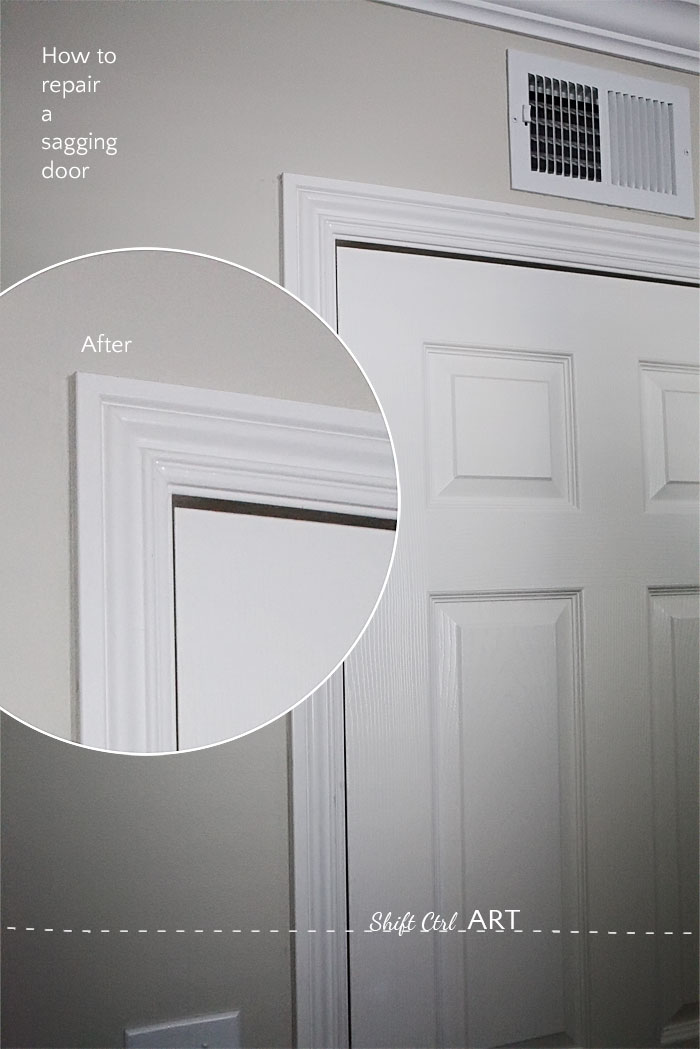 How To Fix A Sagging Door >> How To Fix A Sagging Door See How Easy It Is
