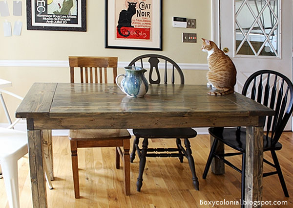 boxy colonial farmhouse table