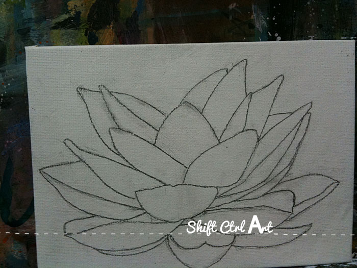 A White Lotus Flower Acrylic And Oil Paint On Canvas