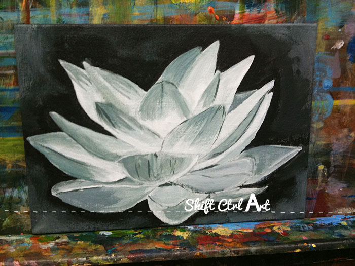 lotus flower oil acrylic on canvas 1