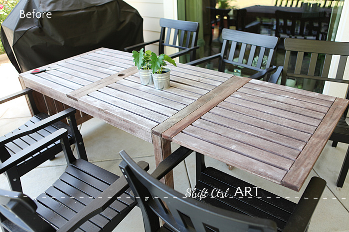 outdoor furniture painted barnwood color 1 - Painting The Outdoor Furniture - How I Got That Barnwood Color