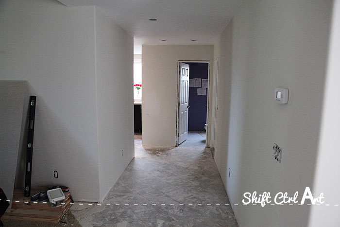 Entry hall during construction demo 1