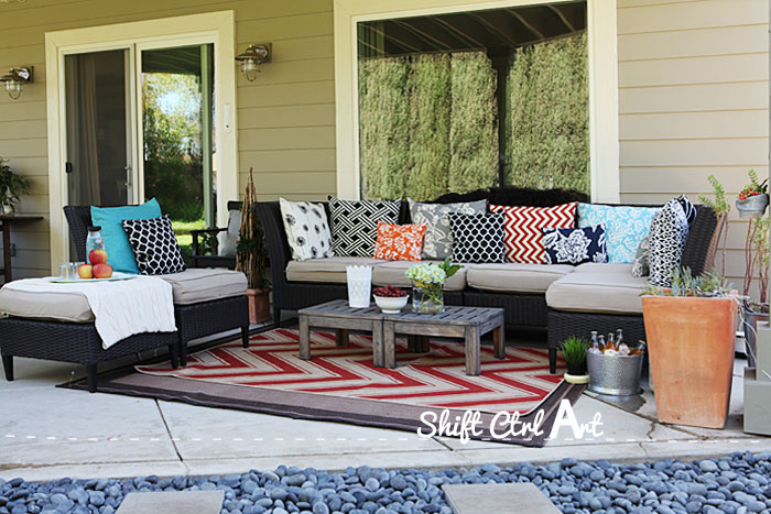 Outdoor lounge area patio reveal 1