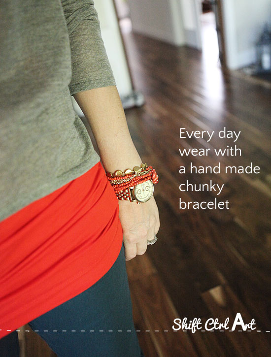 how to make a chunky bracelet jewelry