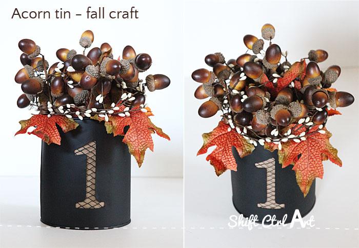 Acorn tin fall decor tutorial 1
