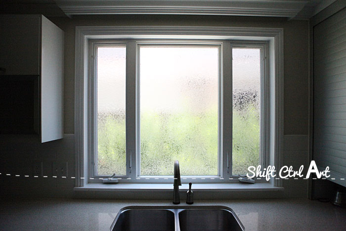 Our new kitchen window no more bathroom glass 1
