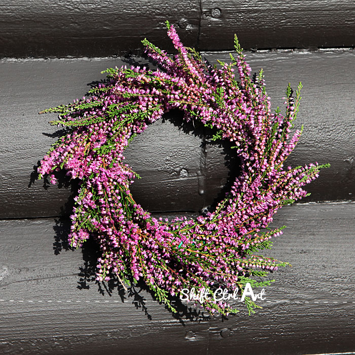 heather wreath Danish summer fall make your own wreath form 1