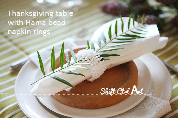 Hama bead napkin rings dare to diy thanksgiving table 1