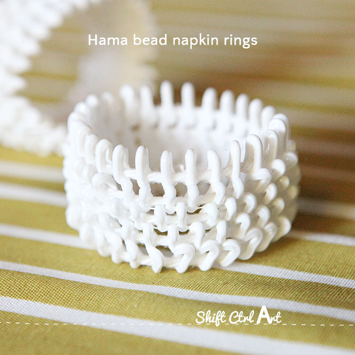 Hama bead napkin rings dare to diy thanksgiving table