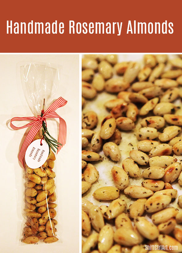 #Handmade #rosemary #almonds #hostess #gift