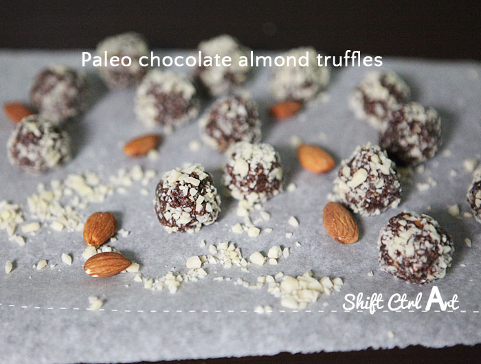 paleo chocolate almond truffles