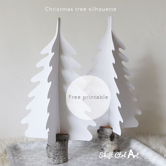 Christmas tree silhouette free printable 1