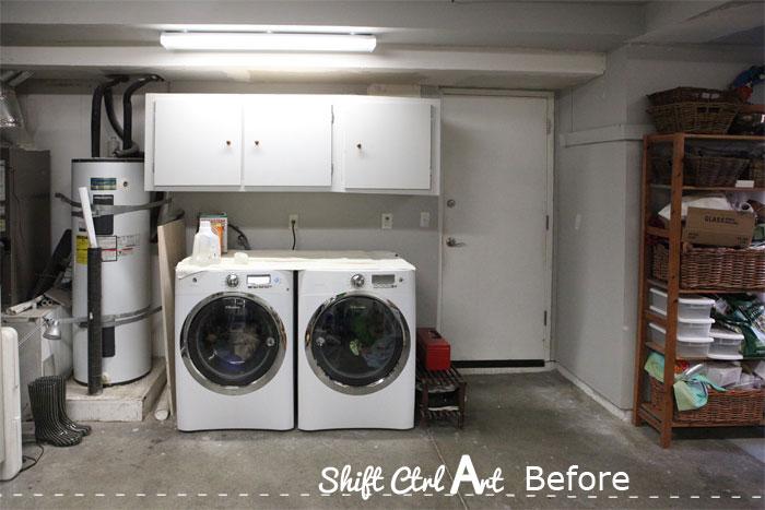 Diy master bedroom makeover - Laundry Nook In Garage Make Over Before And Demo