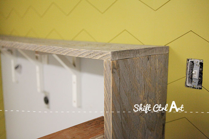 Garage shelf table top 1