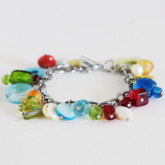 Jewel toned bracelet Dare to give hand made