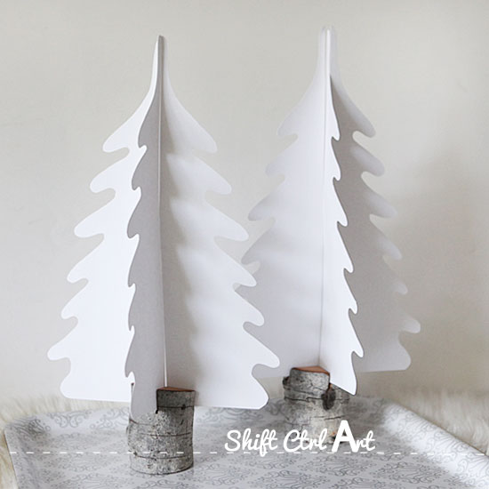 Dare To Entertain: Silhouette Christmas Trees In DIY