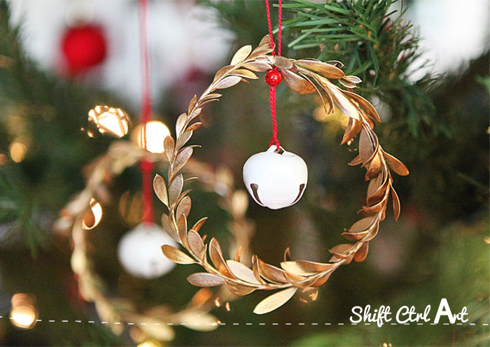 jingle mingle leaf jingle bell Christmas ornament 1