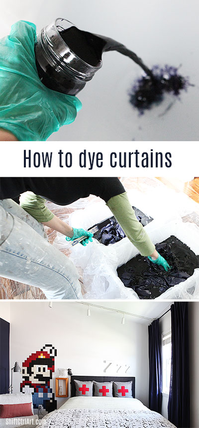 #How to #dye #curtains